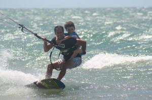 Vacances rêve famille Brésil kitesurf